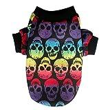 Cheap Fabal Pet Puppy Small Dog Cat Pet Clothes Skull T-Shirt Apparel Clothes (L, Mulitcolor)