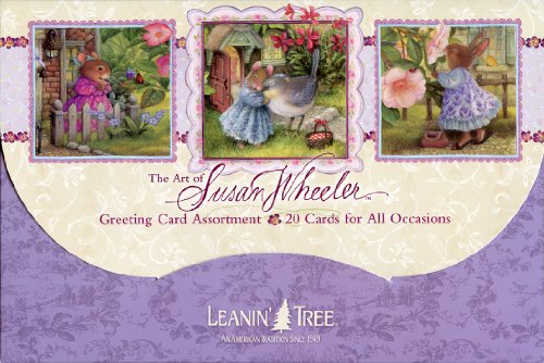 Full Assortment - 1 X The Art of Susan Wheeler - Cute Greeted Card Assortment by Leanin' Tree - 20 Cards with Full-Color interiors