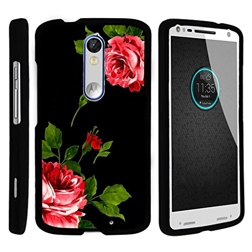 MINITURTLE Case Compatible w/ Miniturtle [Motorola Droid Turbo 2 Case, Kinzie Case, Moto X Force Slim Cover] [Snap Shell] 2 Piece Hard Cover Plastic Snap On Case Affectionate Flowers