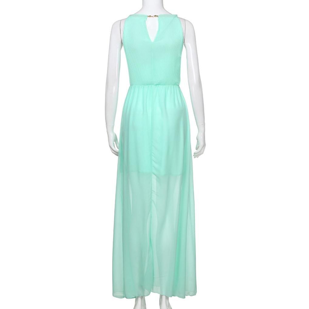 d8495fafa2b5 K-youth® Vestido de Mujer, Vestidos Cuello hálter Vestidos Mujer Fiesta  Vestido de Boda chiffón Vestidos Largos Verano Vestidos para Mujer Vintage  Elegantes ...