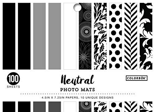 (ColorBok 68222 Designer Photo Mats Neutral Paper Pad)