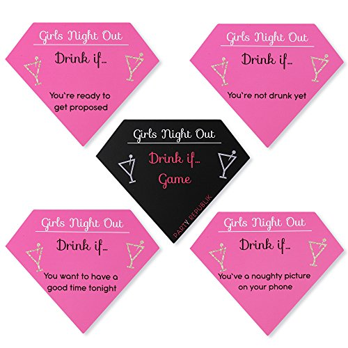 Drink If Bachelorette Party Game – 30 Count - Naughty Bachelorette Party Decorations - Great for Girls Weekend Gift or Bachelorette Gift - Best Adult Drinking Game for Girls Night Out or Ladies Night ()