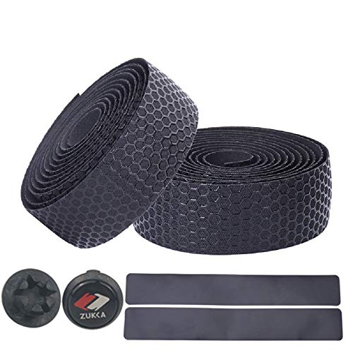 ZUKKA Bike Handlebar Tape Superior Grip Bicycle Bar Tapes with Bar Plugs 2PCS Per Set