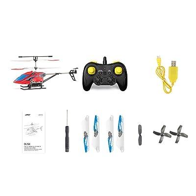 Heaviesk JJR/C JX02 RC Helicóptero Mini Avión 2.4G 4CH Aleación de Metal Altitud Hold Aviones flotantes para niños Juguetes Regalo para niños: Deportes y aire libre