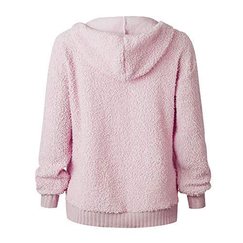 Automne Rose Femme Mode Pull Filles Cordon Vtements Fte Sweat Sport Casual Top Chic Manches Longues Capuche Hiver Homme Blouse Shirt Haut qEwwSRfU