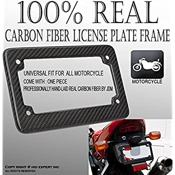 jdm motorcycle carbon fiber license plate frame universal fast shipping e33 - Motorcycle Plate Frame