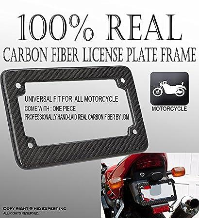 Amazon.com: JDM Motorcycle Carbon Fiber License Plate Frame ...