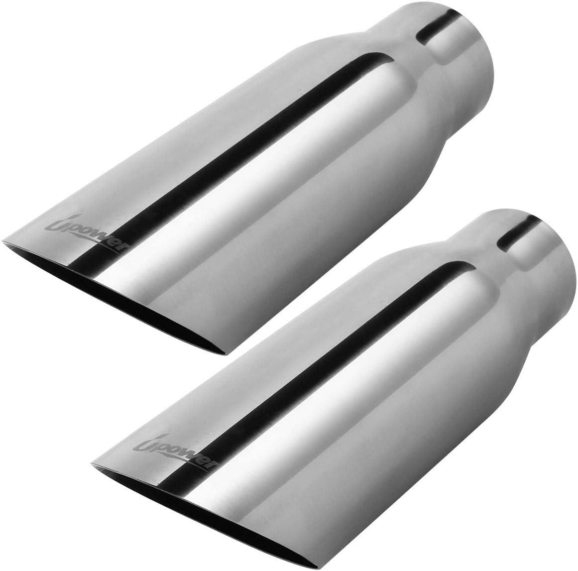 "Exhaust Tip Stainless Steel 2.5/"" Inlet 3.5/"" Outlet//12/"" Long  Angle Cut Weld ON"