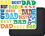 Rikki Knight Best Dad Multi Color Father's Day Design Faux Leather Rectangular Mouse Pad