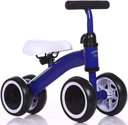 LGLE Entrenamiento del Equilibrio Mini Bicicleta de Bebé sin Pedales, para Niño 1-3 Años Andador de Cuatro Ruedas,Blue: Amazon.es: Deportes y aire libre