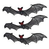 Prextex Halloween Décor Set of 3 Realistic Looking Spooky Nylon Hanging Bats for Best Halloween Decoration