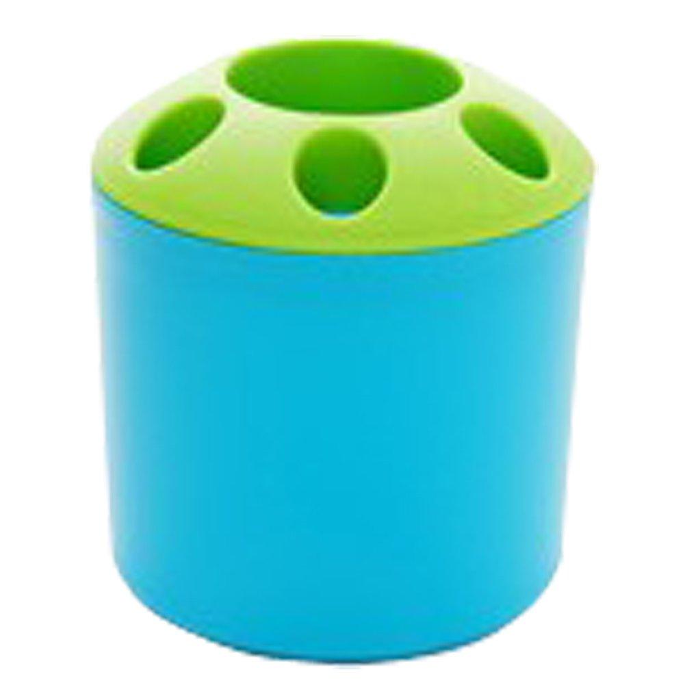 Tenflyer Toiletries Porous Couple Toothbrush Holder Multifunction Desktop Bathroom Sets Storage (Blue)