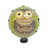 Echo Valley 8238 10'' Owl Jeweled Mosaic Gazing Globe