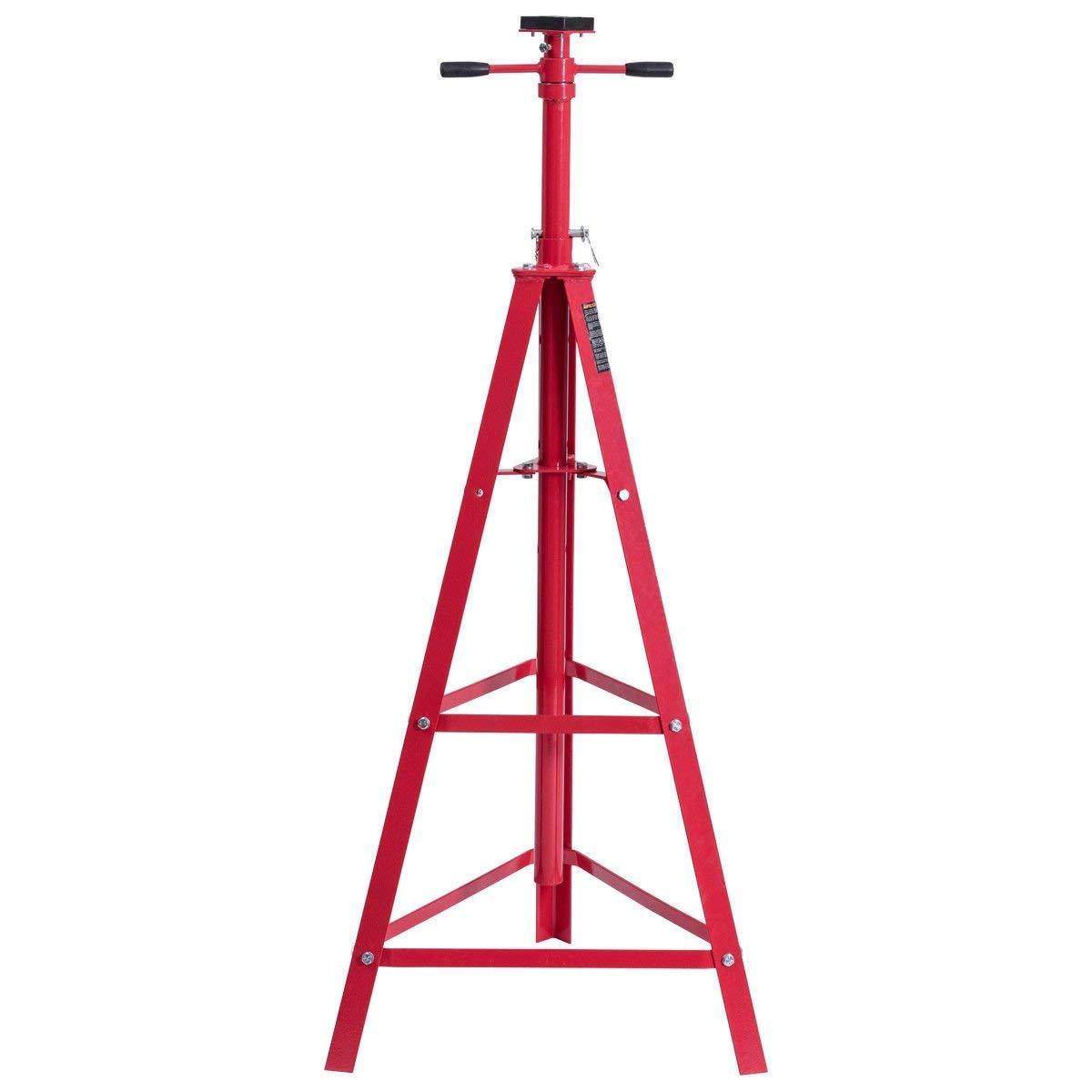 """Costway Men's Jack Stand (Red, 24''×49""""-84""""),"""