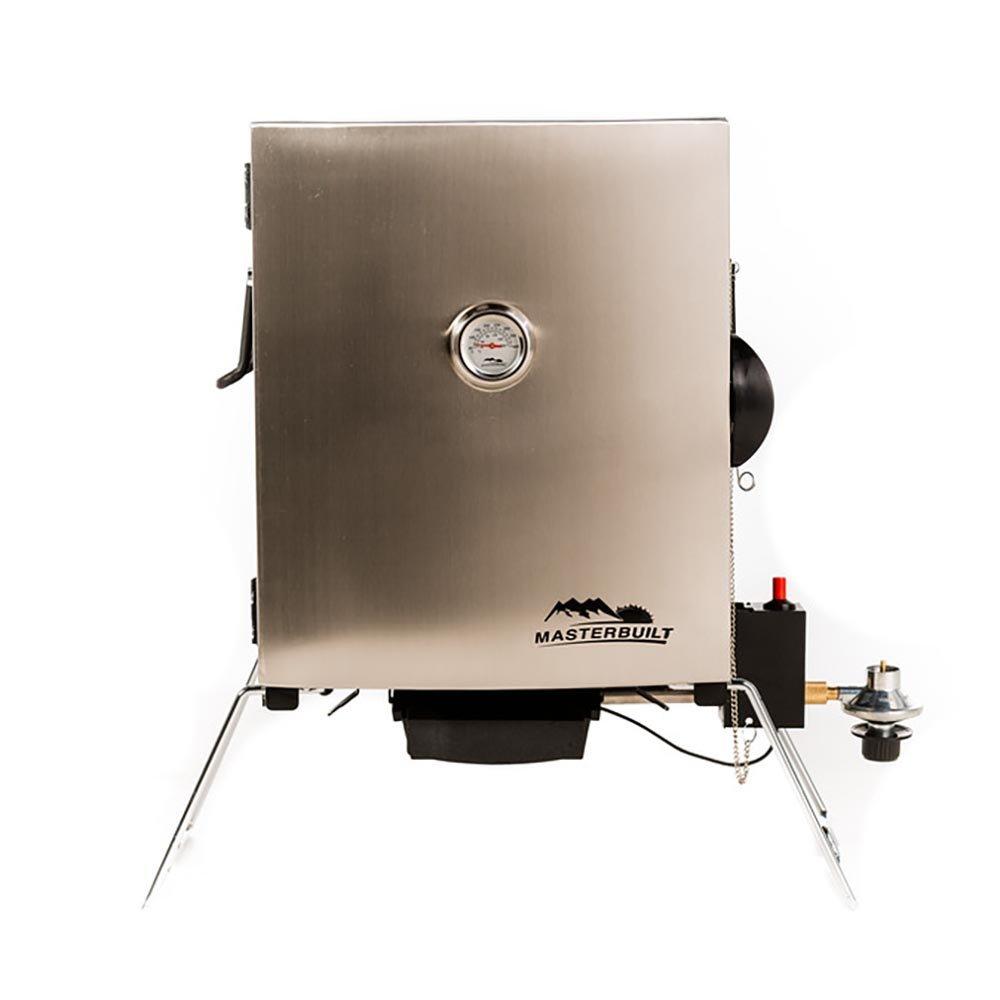 Masterbuilt Compact Outdoor Camping Tailgating Portable Propane BBQ Smoker Grill by Masterbuilt