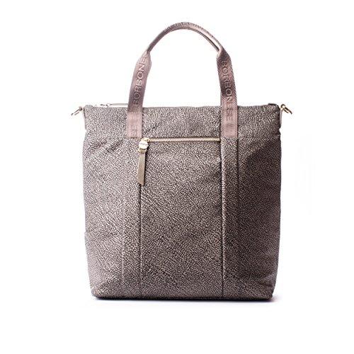 Borbonese - Bolso cruzados para mujer gris gris oscuro