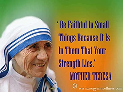 MOTIVATION4U Mother Teresa, Known as Saint Teresa of Calcutta Gonxhe, Mother House of The Missionaries of Charity, Kolkata, West Bengal, India 12 X 18 inch Poster
