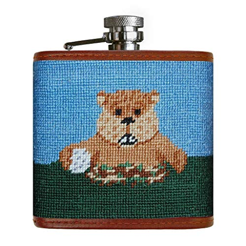 Caddyshack Needlepoint Flask in Blue and Green by Smathers & Branson ()