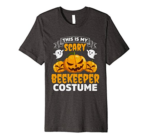 Mens This Is My Scary Beekeeper Costume Funny Halloween Shirt Medium Dark Heather (Male Bee Keeper Costume)