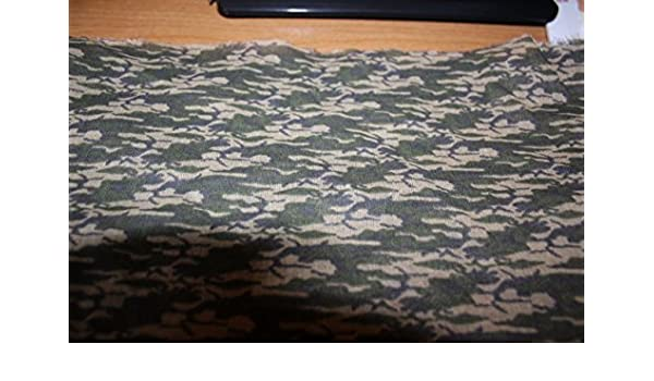 """CAMO Fabric buy by the yard BTY Cotton 60/"""" wide"""