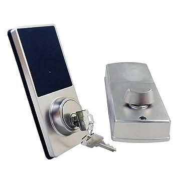Sharplace Bluetooth Cerradura de Puerta Inteligente de Aleación de Zinc con Contraseña y Llave de Repuesto: Amazon.es: Bricolaje y herramientas