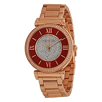 0be3b6b64932 Image Unavailable. Image not available for. Color  Michael Kors Caitlin  Rose Gold-Tone ...