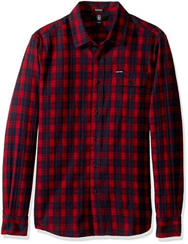 volcom-mens-fulton-long-sleeve-flannel-shirt-blood-red-l