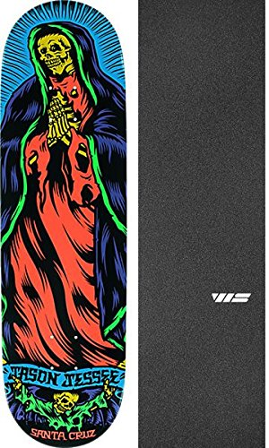 ペダル手足ブリーフケースSanta Cruz Skateboards Blakeジョンソンボーンguadallupeネオンスケートボードデッキ – 8.5 X 32.2 CMでJessup WSダイカットGriptape – 2アイテムのバンドル