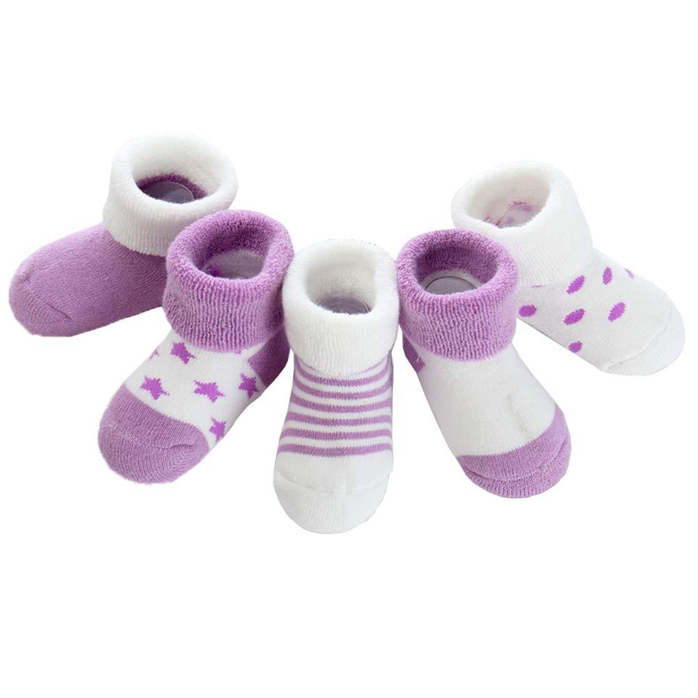 Z-Chen 5er Pack Baby Baumwolle Thermo-Socken