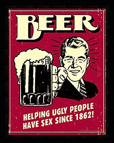 Beer - Ugly People, Tin Signs - Includes .84