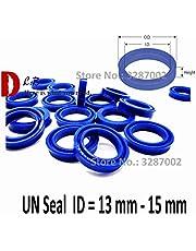 Ochoos Buffer UNS Cup Seal ID = 13 mm - 15 mm U Cup Single Lip Hydraulic Cylinder Piston and Rod Seal U Ring Polyurethane (PU) Rubber - (Size: 14x22x4)