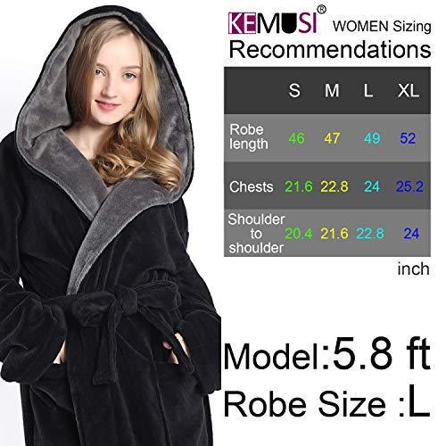 Jual Hooded Women Soft Spa Long Bathrobe d19b11222