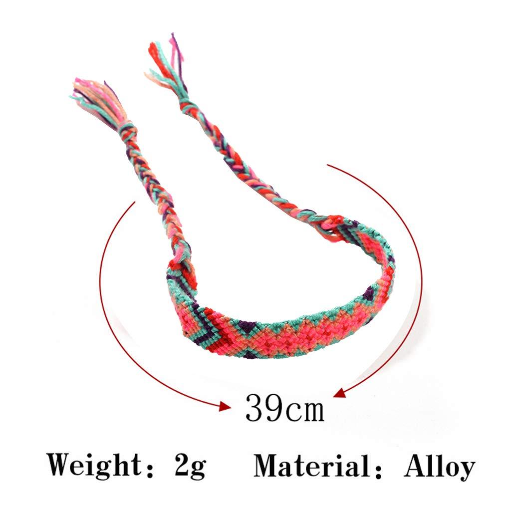 Lorjoyx Boemia Stile Unisex Braccialetto Intrecciato a Mano Uomini Donne Woven Bangles Rope Catena di Gioielli Regalo