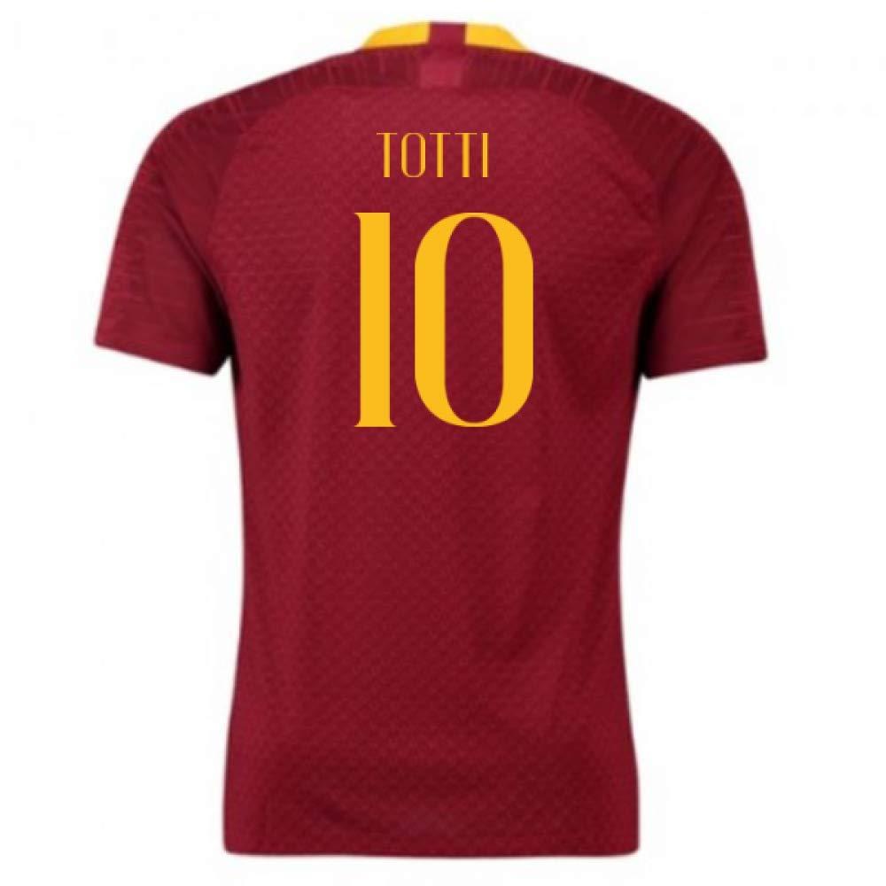 2018-2019 AS Roma Home Nike Football Soccer T-Shirt Trikot (Francesco Totti 10) - Kids