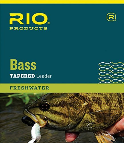 RIO Products Leaders Bass Leaders 9' 8Lb 3 Pack, Clear - Fly Fishing Leader