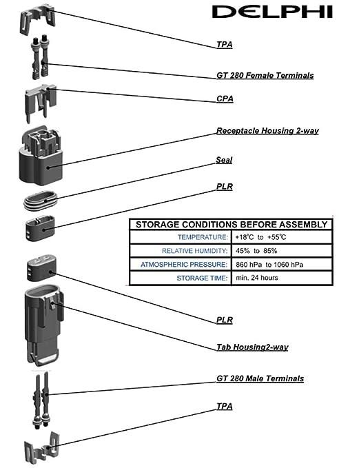 Replacement Parts Aptiv/Delphi GT-280 Series 25 Amps Sealed ...