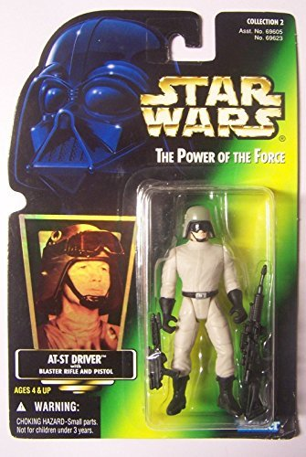 Star Wars Power Of The Force AT-ST Driver With Blaster Rifle and Pistol