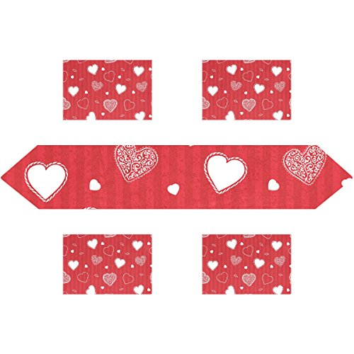 Happy Valentine's Day Rectangle Table Runner 13 x 90 inch wi