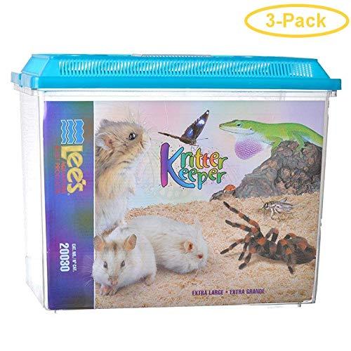 Lees Aquarium & Pet Kritter Keeper Pet Home [Set of 3] Size: X-Large (12.5'' H x 9.38'' W x 15.75'' D)