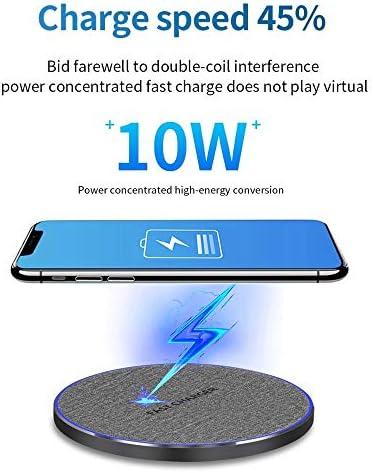 2パックのワイヤレス充電器、チー認定10W高速ワイヤレスiPhone 11/11のPro / X/のX最大/XR / 8プラス/サムスンS10 / S10 + / S9 / S9 + / S8 + /注9、より互換性パッドを、充電