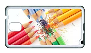 Sale Samsung Note 3 case the best covers Colorful crayons close up TPU White for Samsung Note 3/Samsung N9000