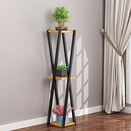 錬鉄フラワースタンド、植物スタンド、屋内多層緑大根バルコニー肉質フラワーラック棚装飾フレーム、B、L