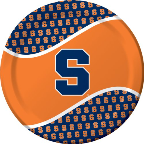 8-Count Round Paper Dinner Plates, Syracuse Orange - Syracuse Bowl Games