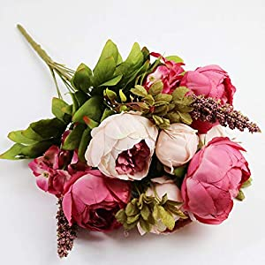 AntranStore Artificial Silk Peony Bouquets for Wedding Party Home Office Hotel Outdoor Craft Decoration 34
