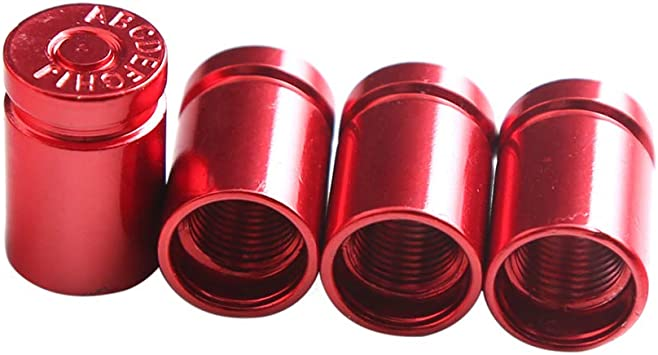 Kkmoon 4 Stücke Auto Ventilkappen Universal Reifen Ventilkappen Abdeckung Für Auto Motorrader Pkw Lkw Offroad Rot Auto