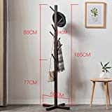 D&L Solid wood Multifunction Coat stand Garment rack,Modern Commercial grade Sturdy construction-B