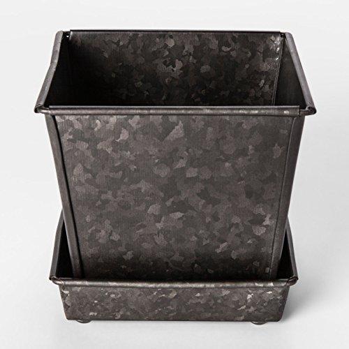 Square Galvanized Steel Planter (Smith & Hawken Pots)