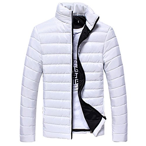 - Sunyastor Men's Lightweight Stand Collar Down Jacket,Popular Casual Warm Stand Collar Slim Winter Coat Outwear Overcoat
