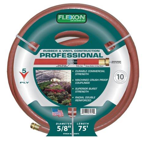 Flexon 5/8-Inch by 75-Foot Professional Garden Hose CX5875