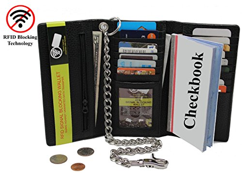 Blocking Tri Fold Stainless Checkbook Passport product image